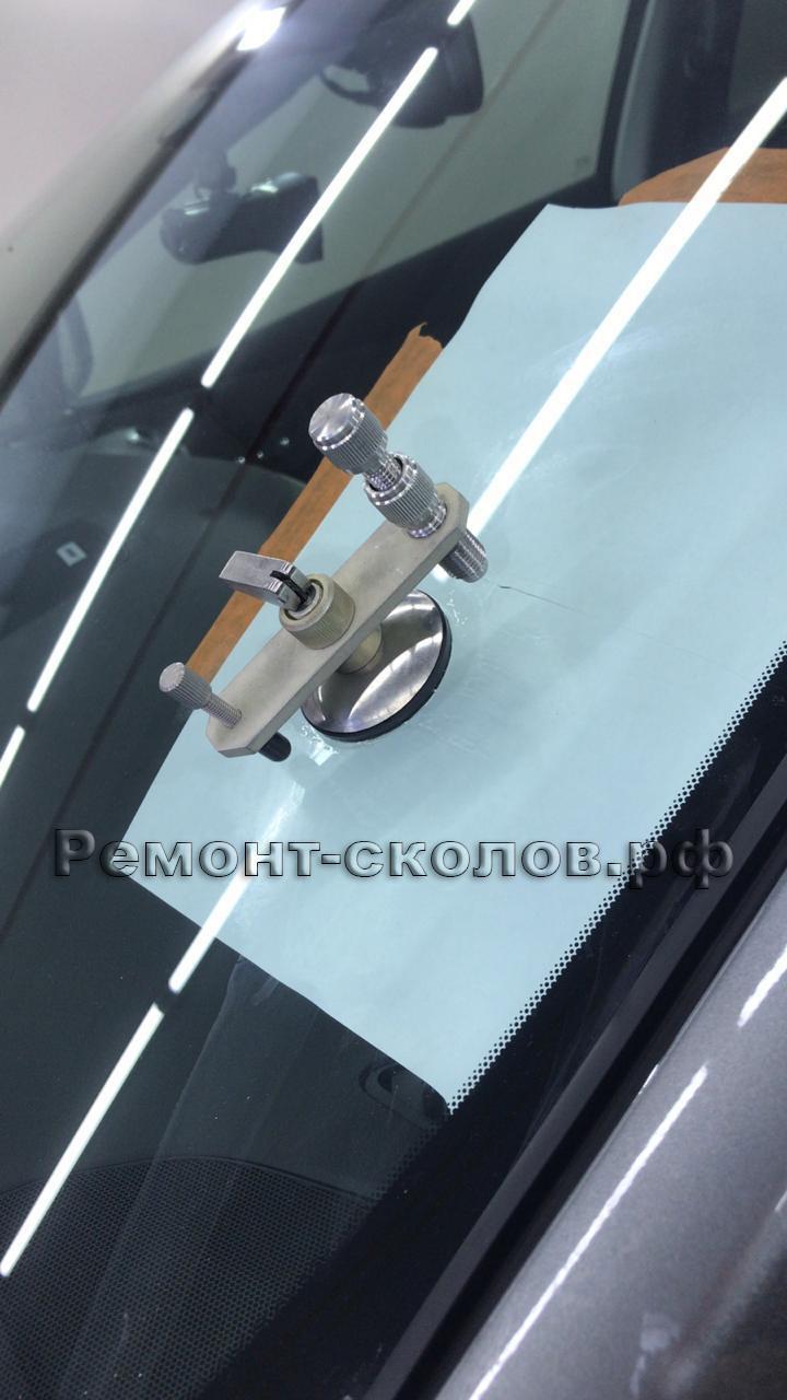 Ремонт трещины на лобовом стекле Nissan Murano в ЮЗАО