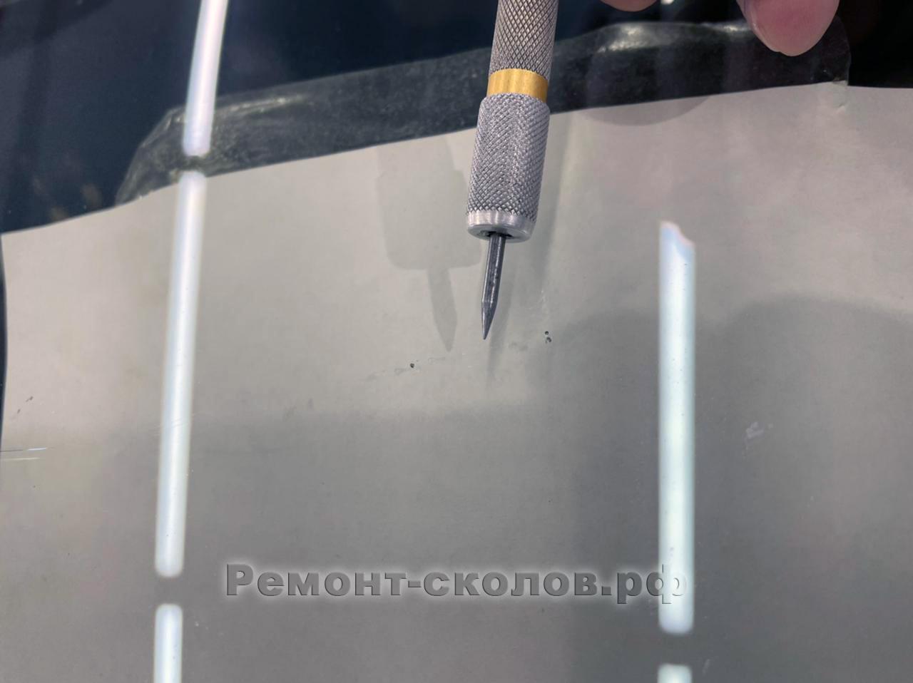 Устранение трещины стекла Мерседес на Профсоюзной