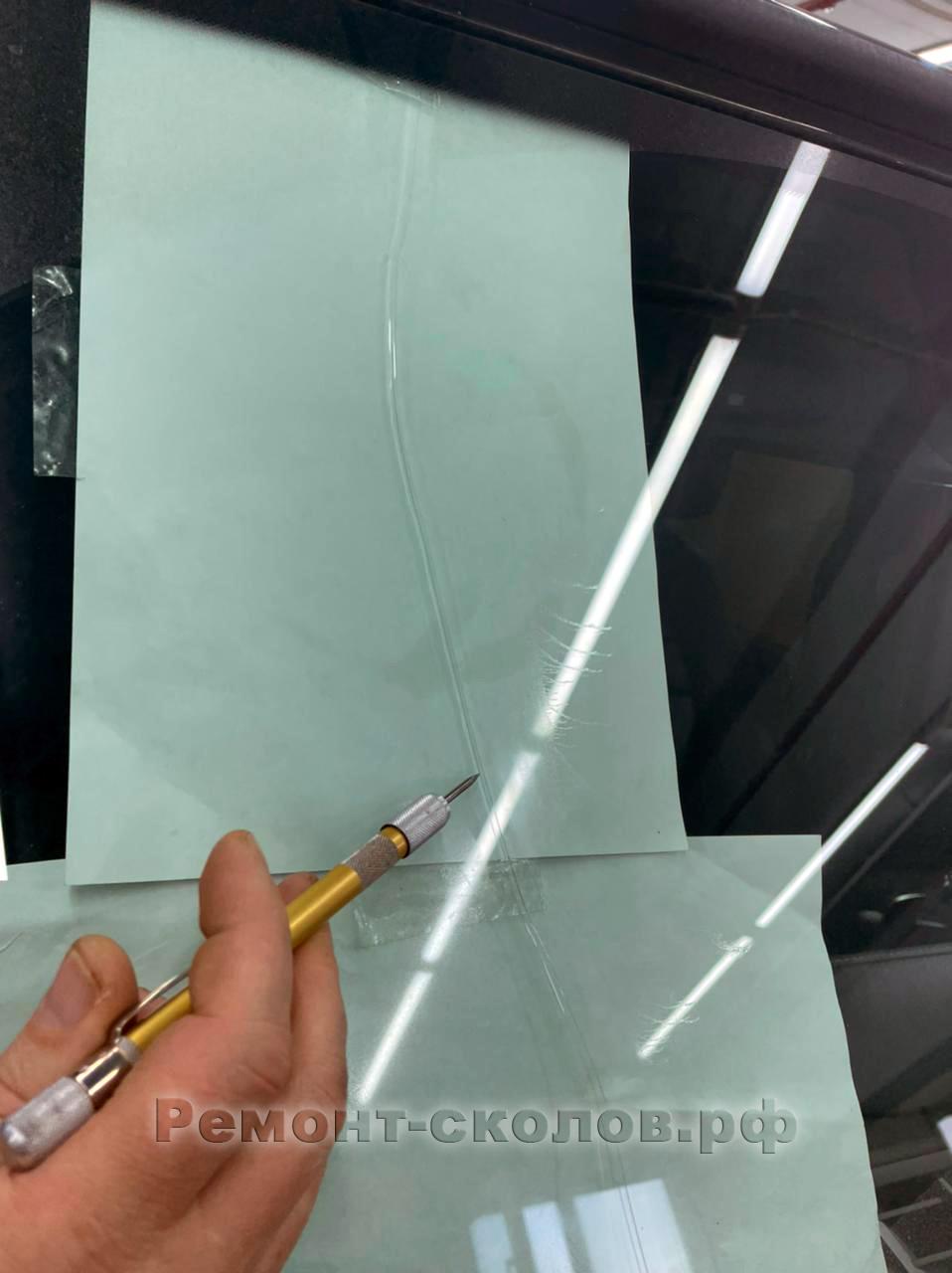 Mercedes Gelandewagen - трещина на лобовом